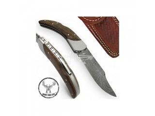 Urban Frontier Hunt For Life Damascus Lockback Outdoor Folding Pocket Knife