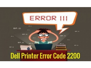 Solution To Fix Dell Printer Error Code 2200