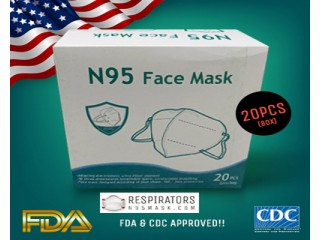 Buy N95 Respirator Face Mask (FDA Approved)