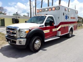 2011 Ford F-450 Wheeled Coach Emergency Paramedic Fire Rescue Ambulance
