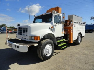 1992 International 4800 National Crane Series N95 Knuckleboom