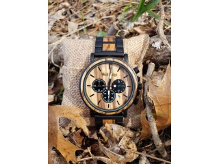 Hand made modern outdoor wood watch