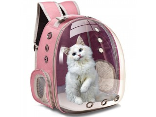 PET TRANSPARENT BACK-BAG CARRIER