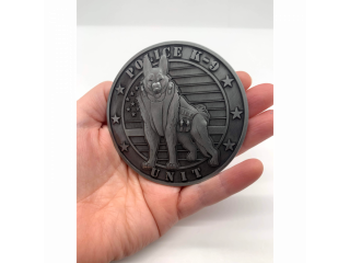 K9 Police Unit Challenge Coin