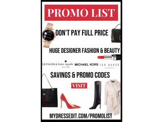 Women's Designer Fashion & Cosmetics Promo Codes - Updated Daily