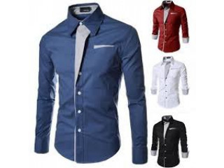 Stylish bold colour long sleeve shirts for men