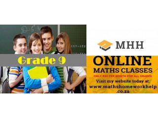 Online Maths classes tuition lessons for grade 9 to grade 12 24/7 anywhere in south africa